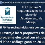 El PP rechaza 9 propuestas del programa con el que el PP de Málaga ganó en 2011