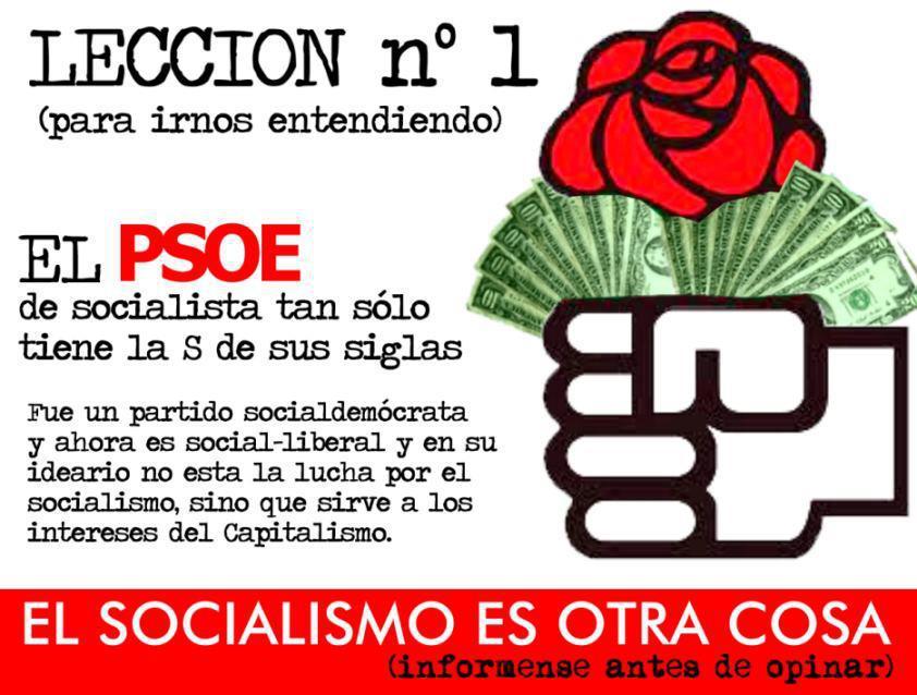 El PSOE, ¿un partido socialista?