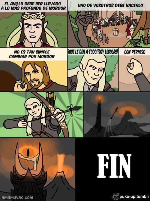 El señor de los anillos - La idea de Legolas