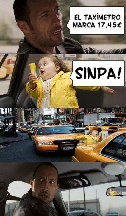 Sinpa en el taxi