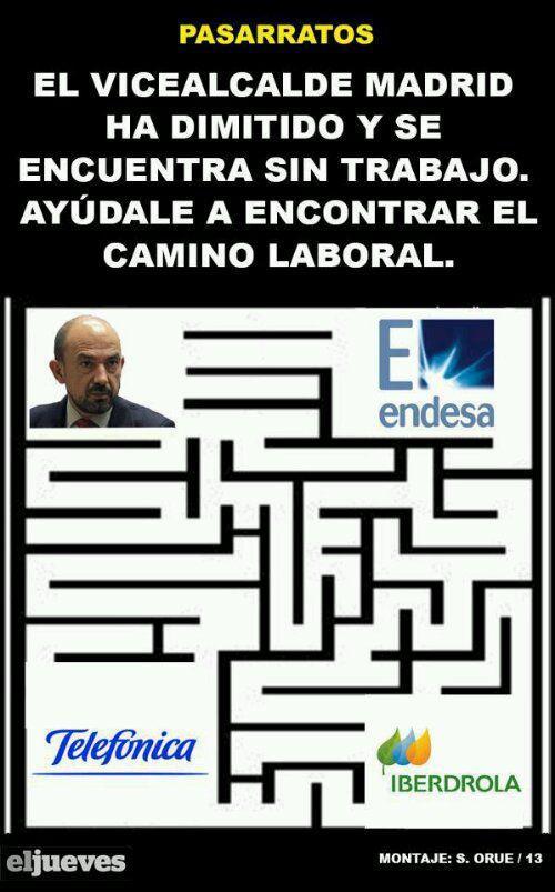 Ayuda al vicealcalde de Madrid a encontrar su camino laboral