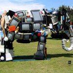 Elefante con televisores