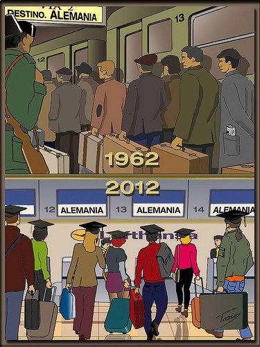Emigración a Alemania en 1962 y en 2012