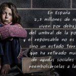 España, camino de ser los primeros en desnutrición infantil