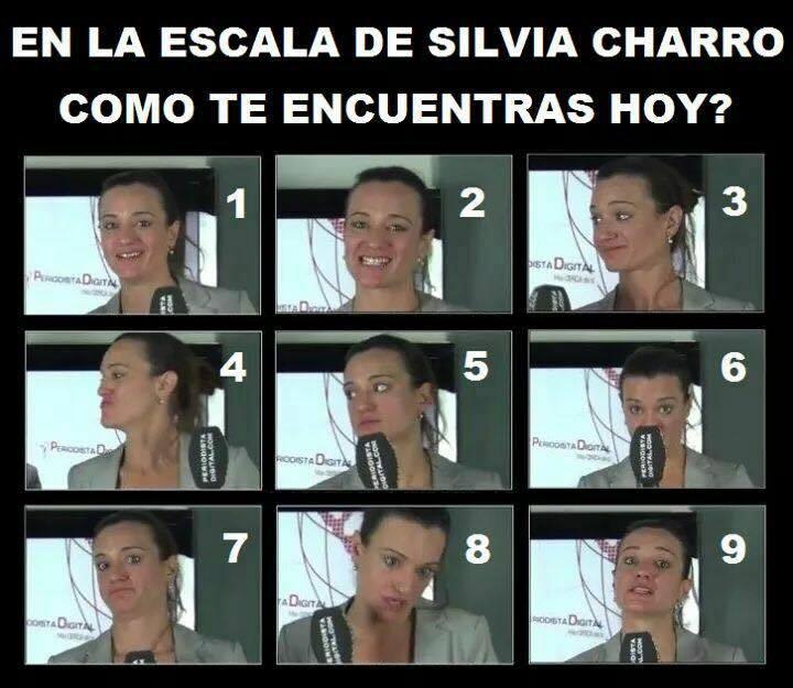 En la escala de Silvia Charro, ¿cómo te encuentras hoy?
