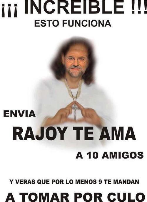 Envía Rajoy te ama