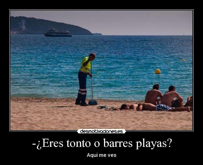¿Eres tonto o barres playas?