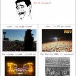 Bandas de rock que llenan estadios