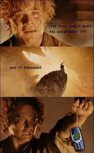 Es la única forma de destruirlo, Frodo