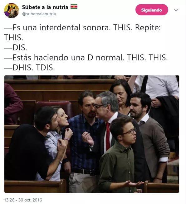 Enseñando a pronunciar en el congreso de los diputados