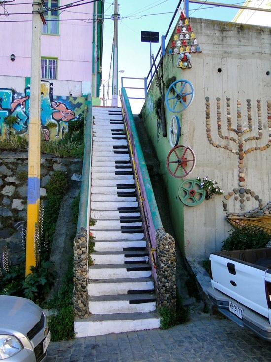 Escalera piano