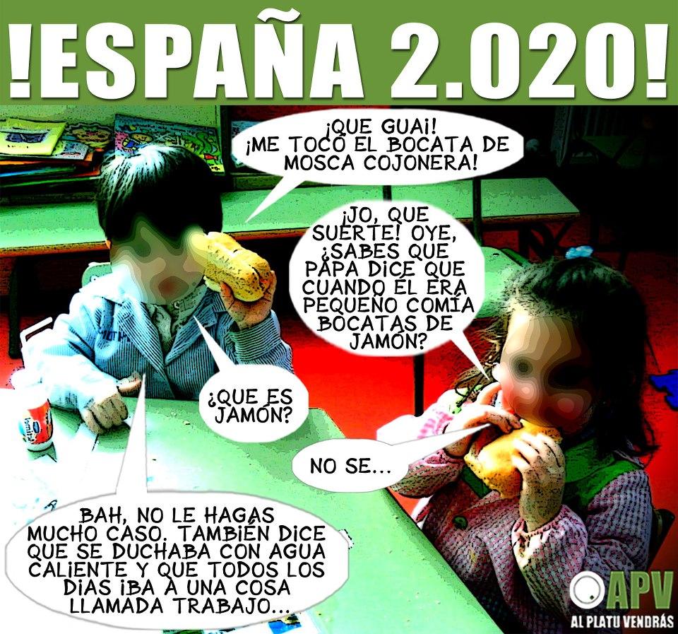 España 2020: Conversación entre niños en la escuela