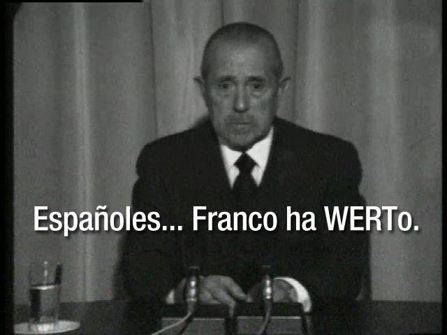 Españoles, Franco ha WERTo