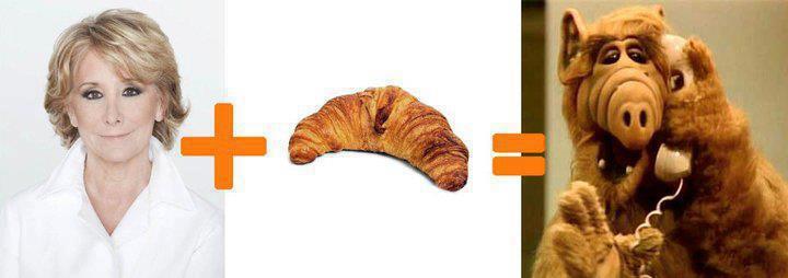 Esperanza Aguirre + Croissant = Alf