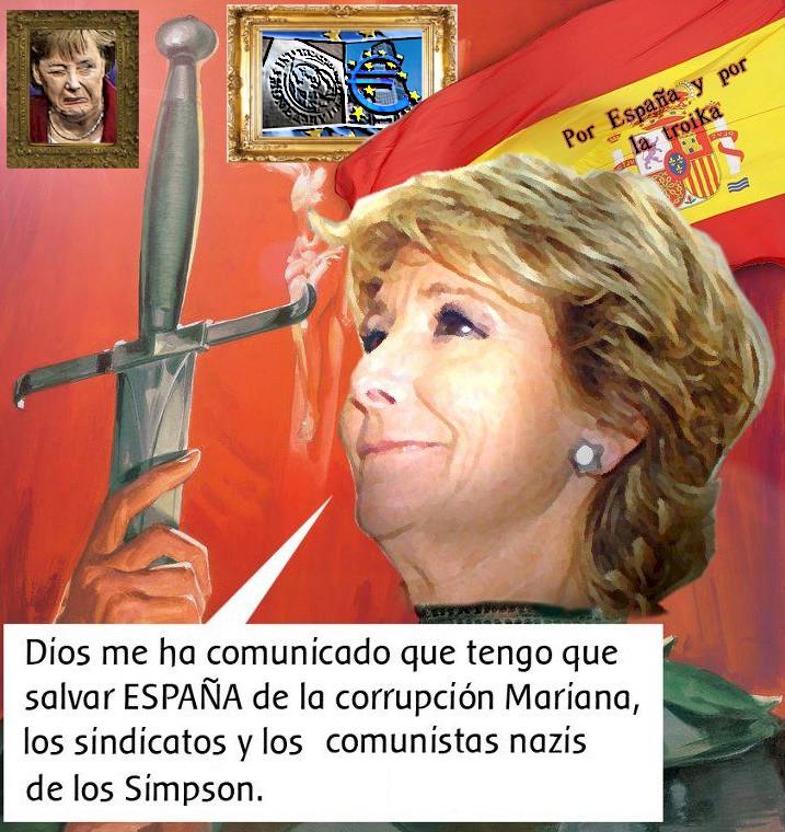 La misión divina de Esperanza Aguirre