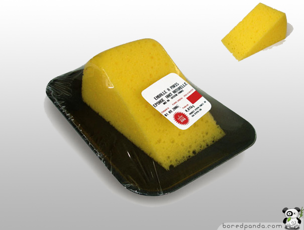 Esponja como si fuese queso