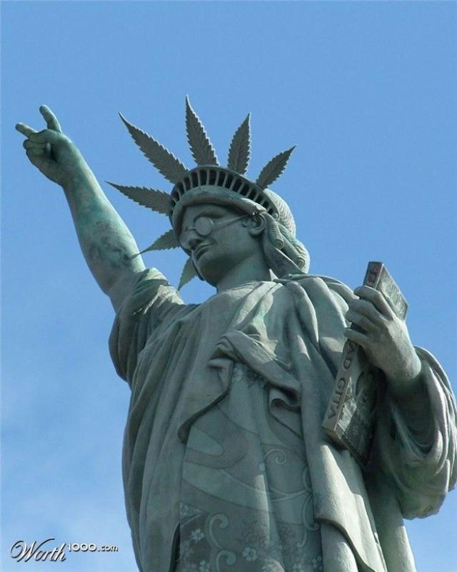 Estatua de la Libertad - Marihuana