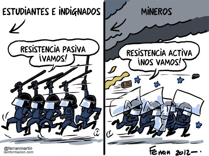 Tipos de resistencia - reacción de antidisturbios