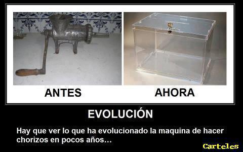 Evolución de la máquina de hacer chorizos