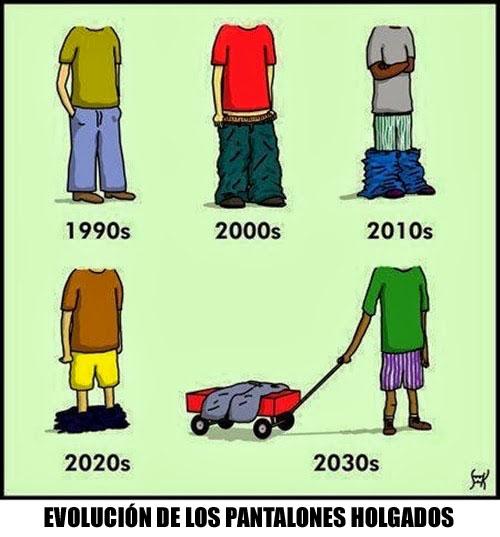 evolucion de los pantalones holgados