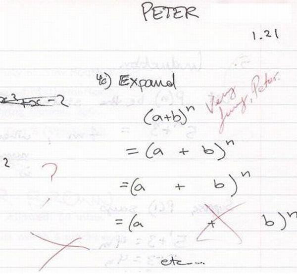 Pregunta de examen: expandir a+b