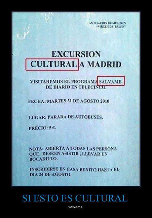 Excursión cultural a Madrid