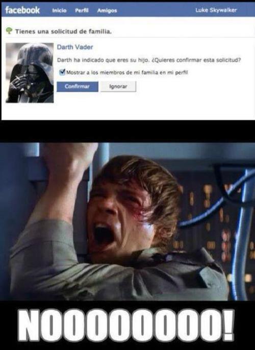 Luke recibe una solicitud de relación en Facebook