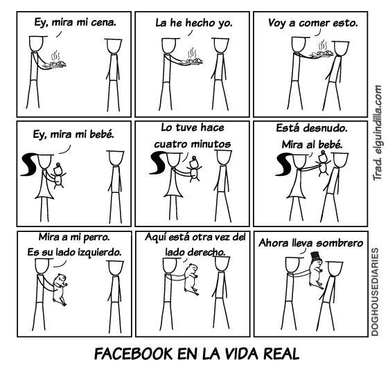 Facebook en la vida real