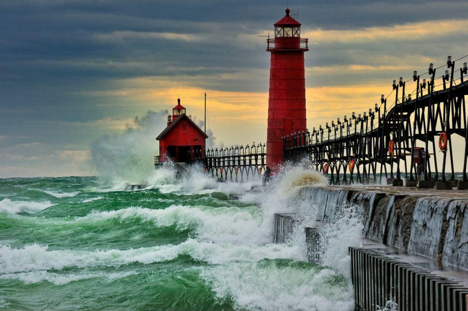Faro de Grand Haven, Michigan