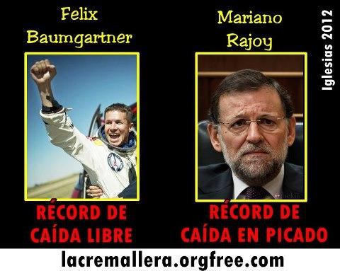 Los récords de Felix Baumgartner y Rajoy