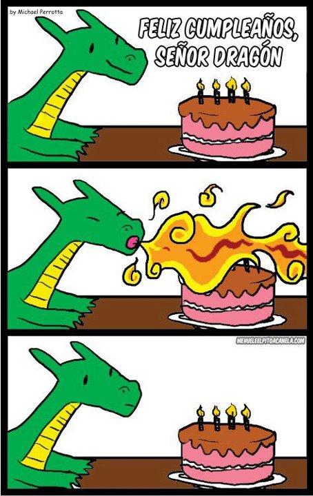 Feliz cumpleaños, dragón