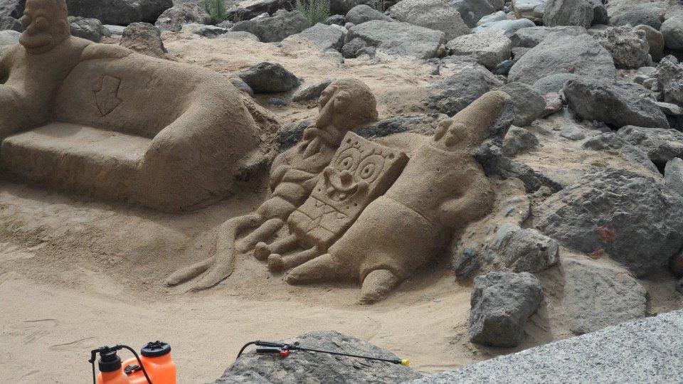 Figuras de arena - Bob Esponja