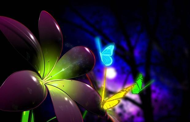 Naturaleza fluorescente
