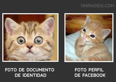 Foto de documento de identidad y foto perfil de facebook