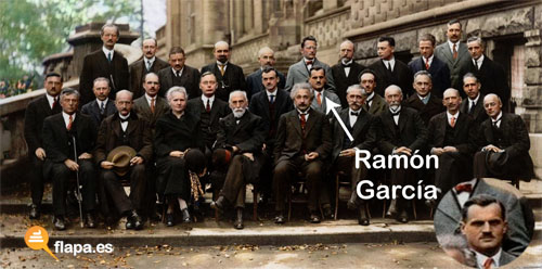 Ramon García - Su foto con Einstein