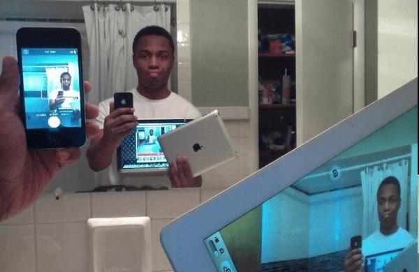 foto selfie iphone e ipad