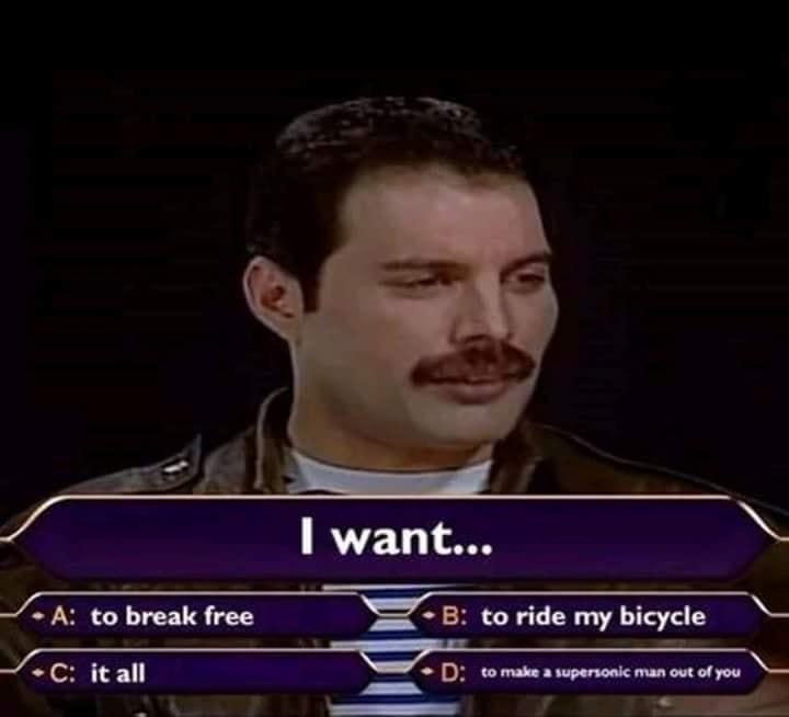 ¿Qué quiere Freddie Mercury?