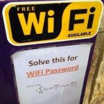 Wifi gratis para matemáticos
