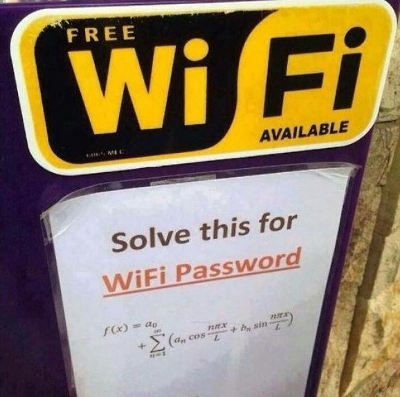 free wifi solve this for password