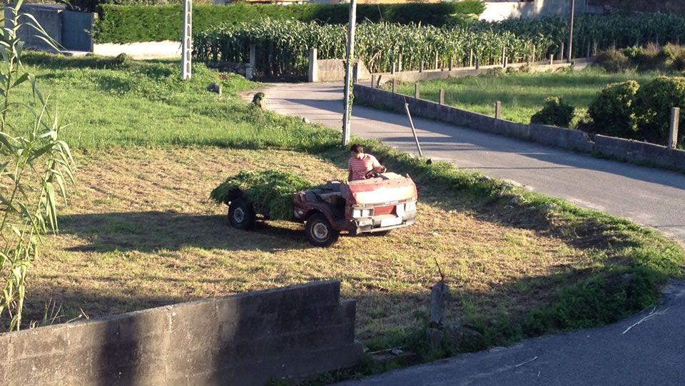 furgoneta reconvertida en tractor