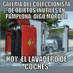 Objetos inútiles en Pamplona: el Lavadero de Coches