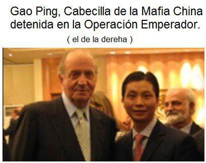 Gao Ping, cabecilla de la mafia china (el de la derecha)