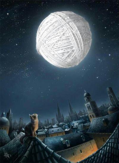 Ovillo de luna