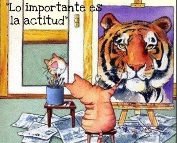 gato pintado cuadro tigre lo importante es la actitud