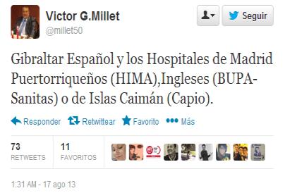 Gibraltar español, pero los hospitales...