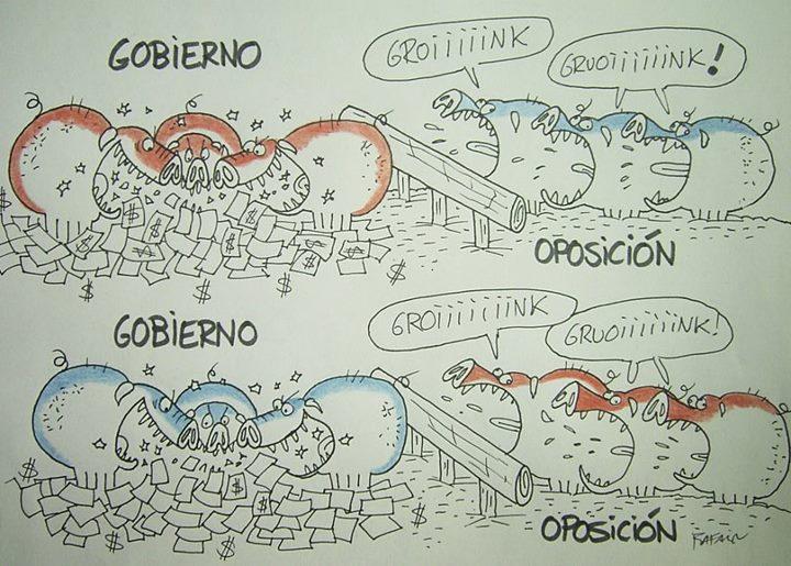 Intercambio de roles entre gobierno y oposición