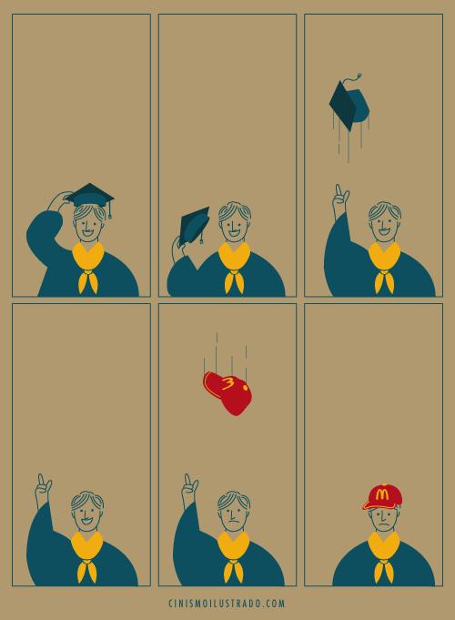 graduado gorro macdonalds