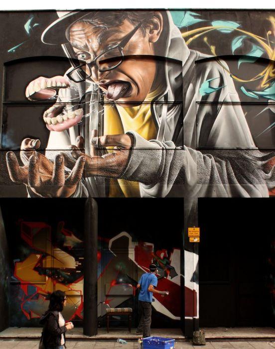 Graffiti - Dentadura postiza