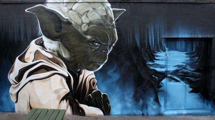 Graffiti Yoda