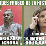 Grandes frases de la historia: Confucio vs Fátima Báñez